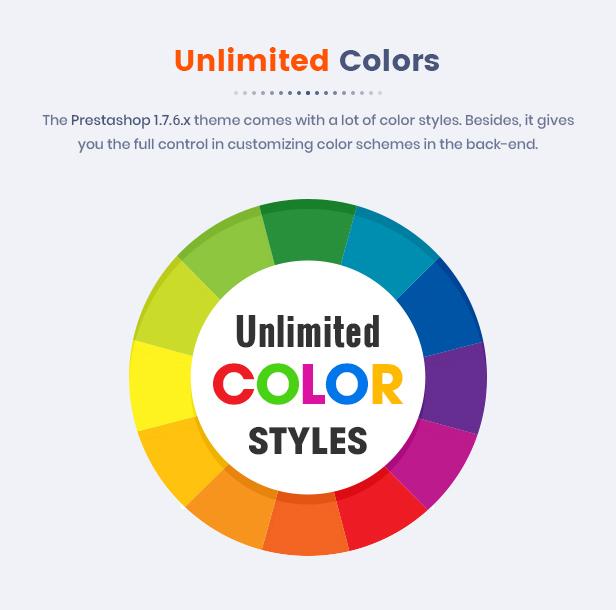 Market - Responsive Multipurpose Prestashop Theme - Color