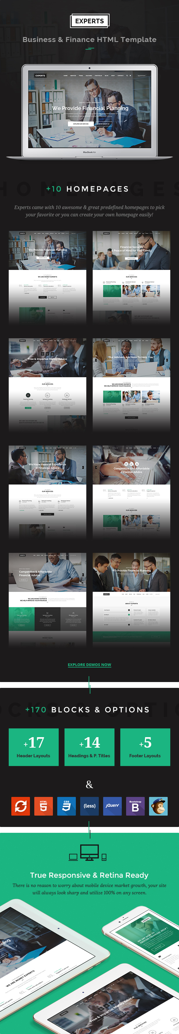 Financial Consulting Broker Business Responsive HTML Template