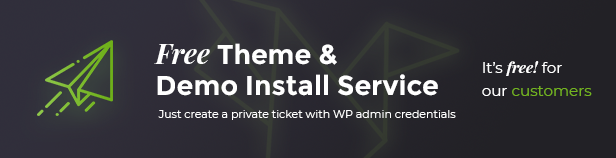 Free theme and demo install services