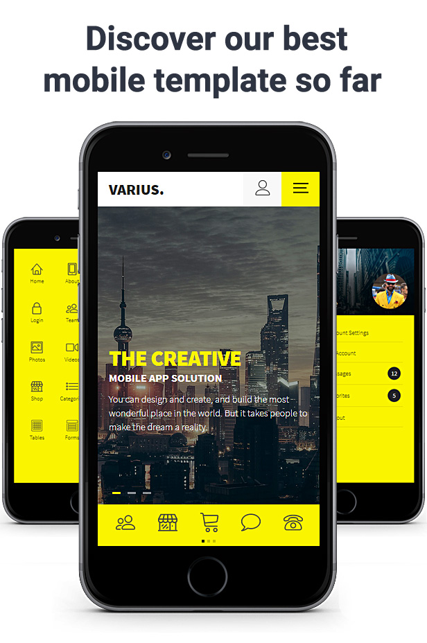 varius mobile and tablet creative template by sindevo themeforest