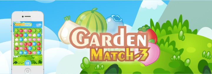 garden match 3 html5 game