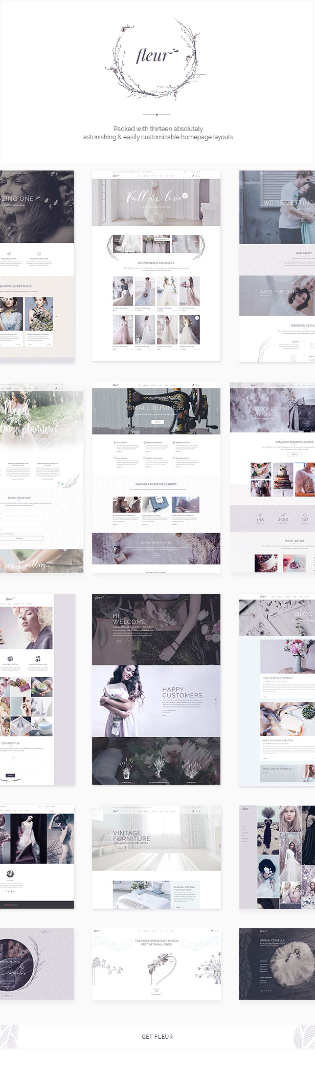 Fleur - Wedding Theme for Celebrations and Wedding Businesses - 1