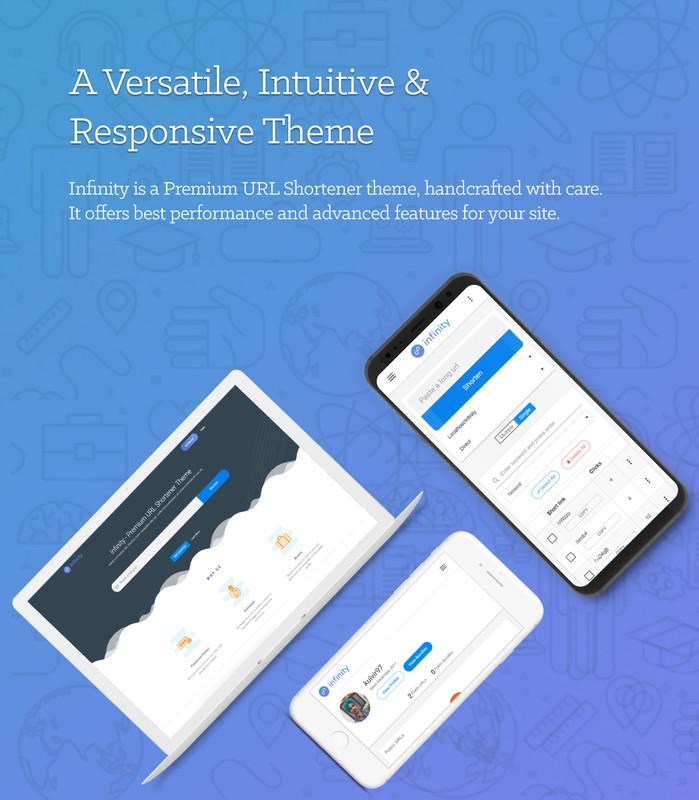 Infinity - Premium URL Shortener Theme - 1