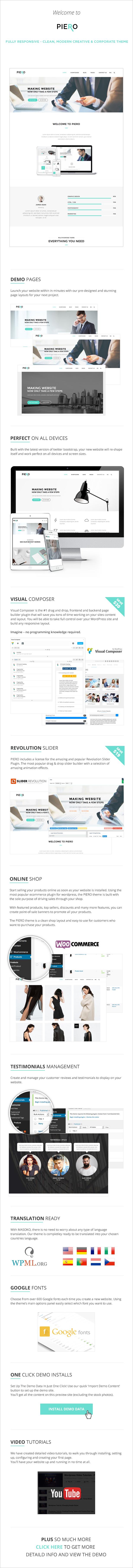 PIERO | Clean, Modern, Multi-Use Wordpress Theme - 3
