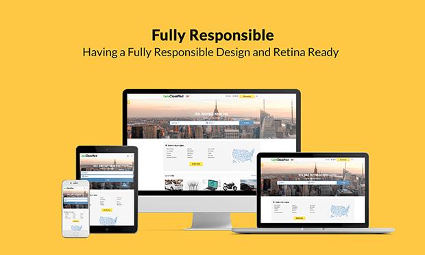 Responsive Classified Ads Website
