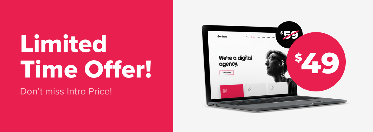 Gentium – A Creative Digital Agency WordPress Theme - 1