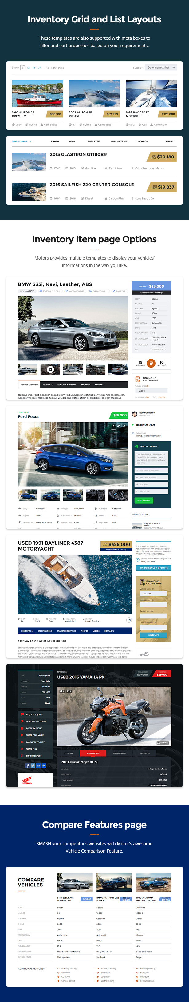 Motors - Car Dealer and Rental, Classified WordPress theme - 5