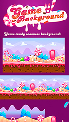 Seamless Candy Background For Game - 3