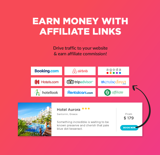 Earn money with affiliate links