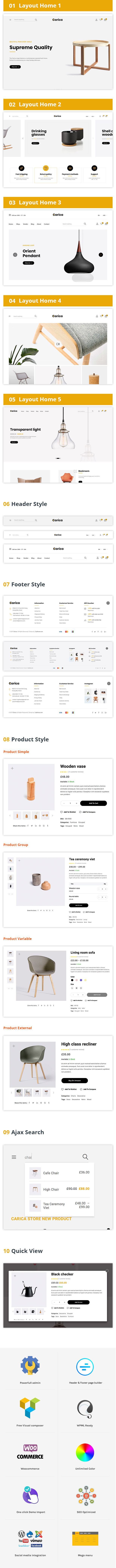 Carica - Furniture Handmade Shop WooCommerce Theme - 4