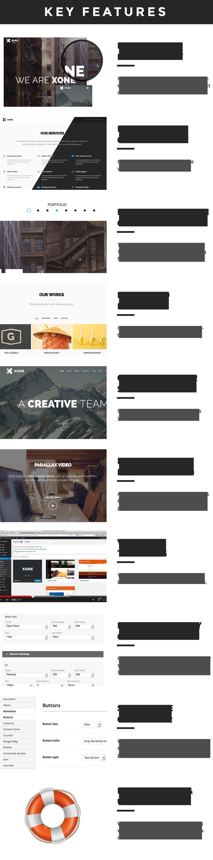 Xone - Clean One Page WordPress Theme - 8