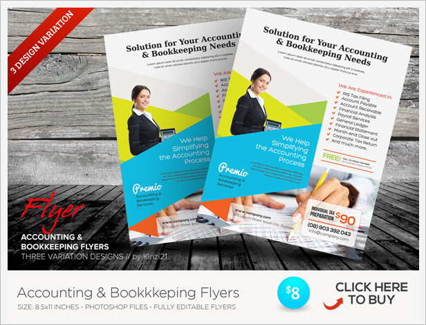 Accounting Bookkeeping Services Trifold Brochure By Kinzi21