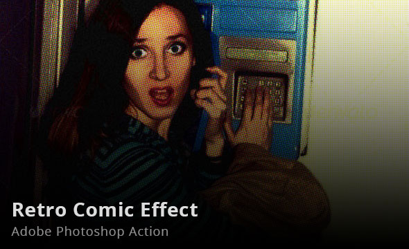 Retro Comic Effect Photoshop Action