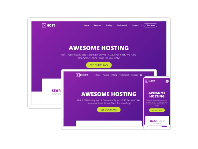 Arrow Host - One Page and Multi Page Web Hosting Template - 2
