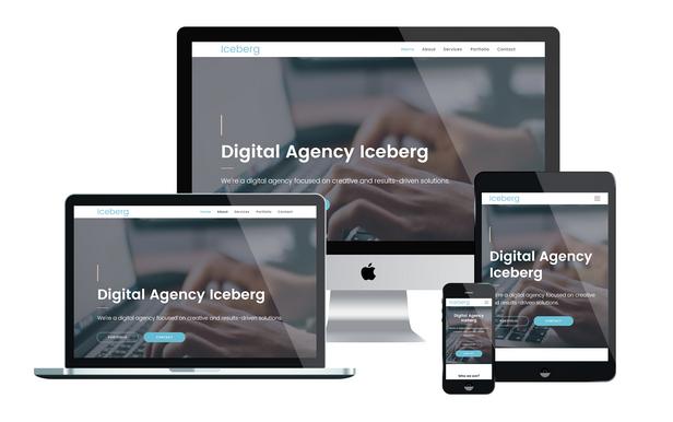 Iceberg - Digital Agency Muse Template - 1