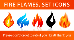 Fire Flames Set - 1