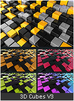3D Abstract Background Design - 4
