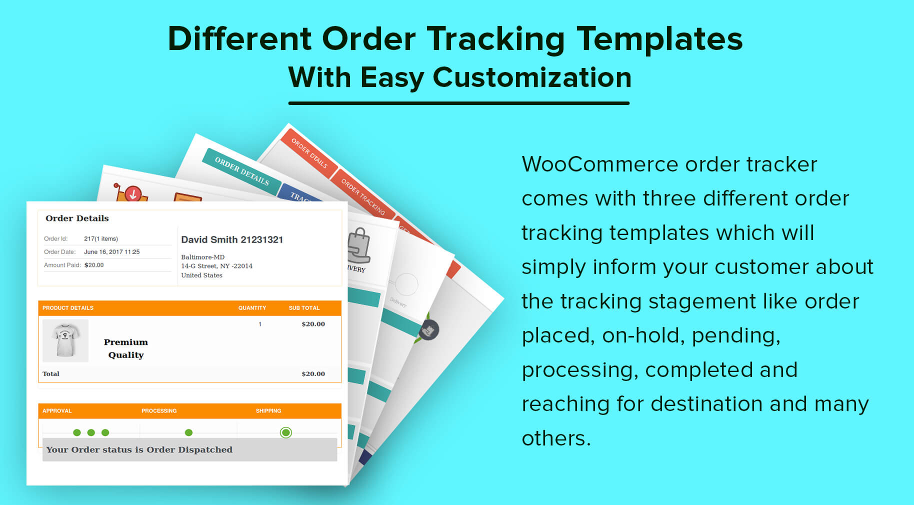 Different Order Tracking Templates With Easy Customization