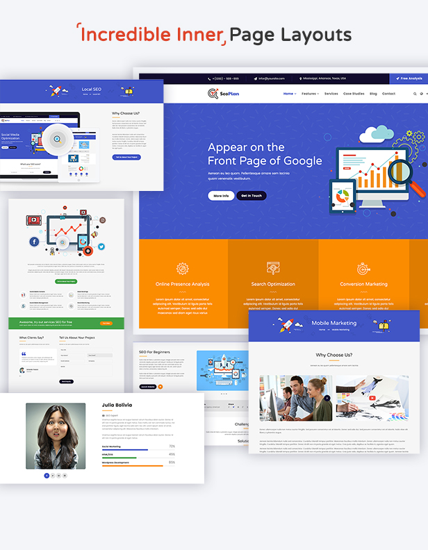 SeoPlan & Digital Marketing Agency WordPress Theme - 3
