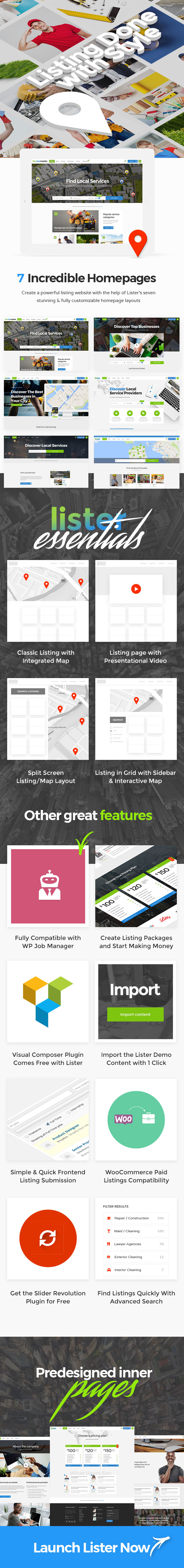 Lister - Business Finder Directory Theme - 1