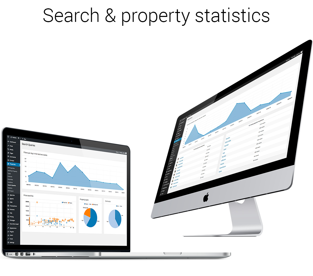 search and property statistics