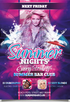 Summer Nights Dance party Flyer Template