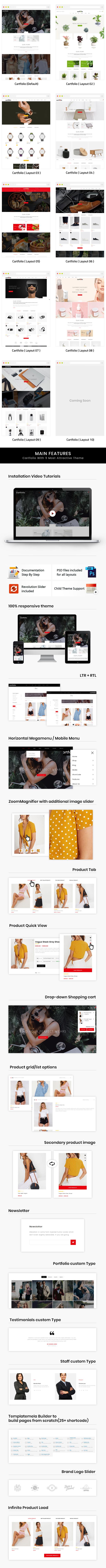 Cartfolio - Multipurpose WooCommerce Theme