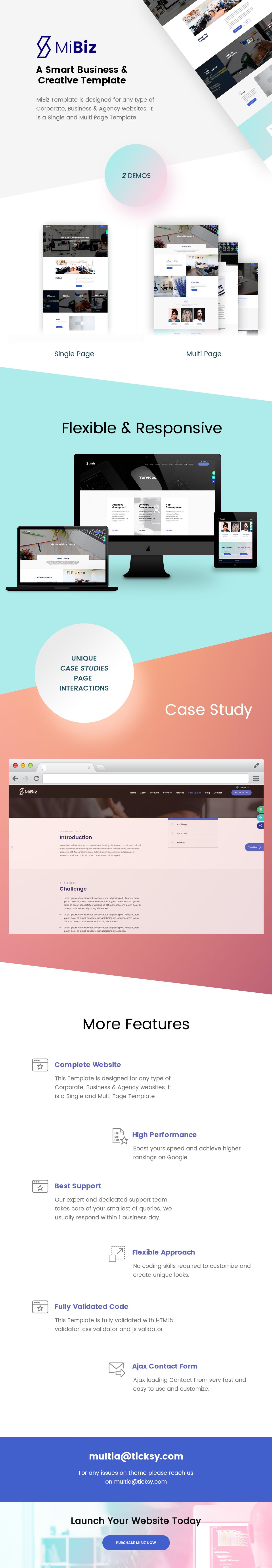 MiBiz- A Smart Multipurpose Template for Business & Agencies. - 7
