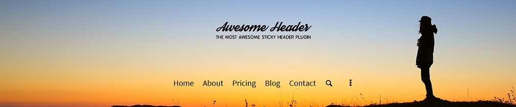 Awesome Header Big Image Background WordPress