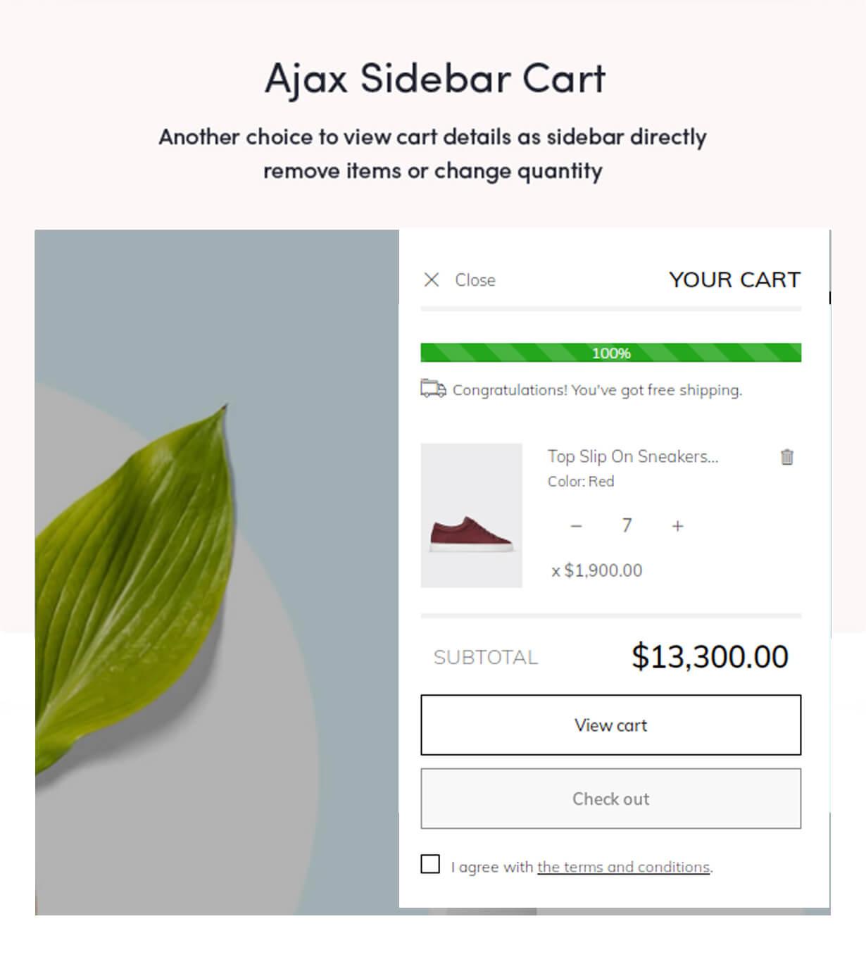 Ajax sidebar cart
