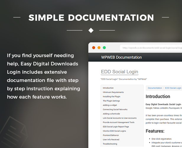 Simple documentation