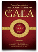 Pastor's Appreciation Gala Church Flyer & Ticket