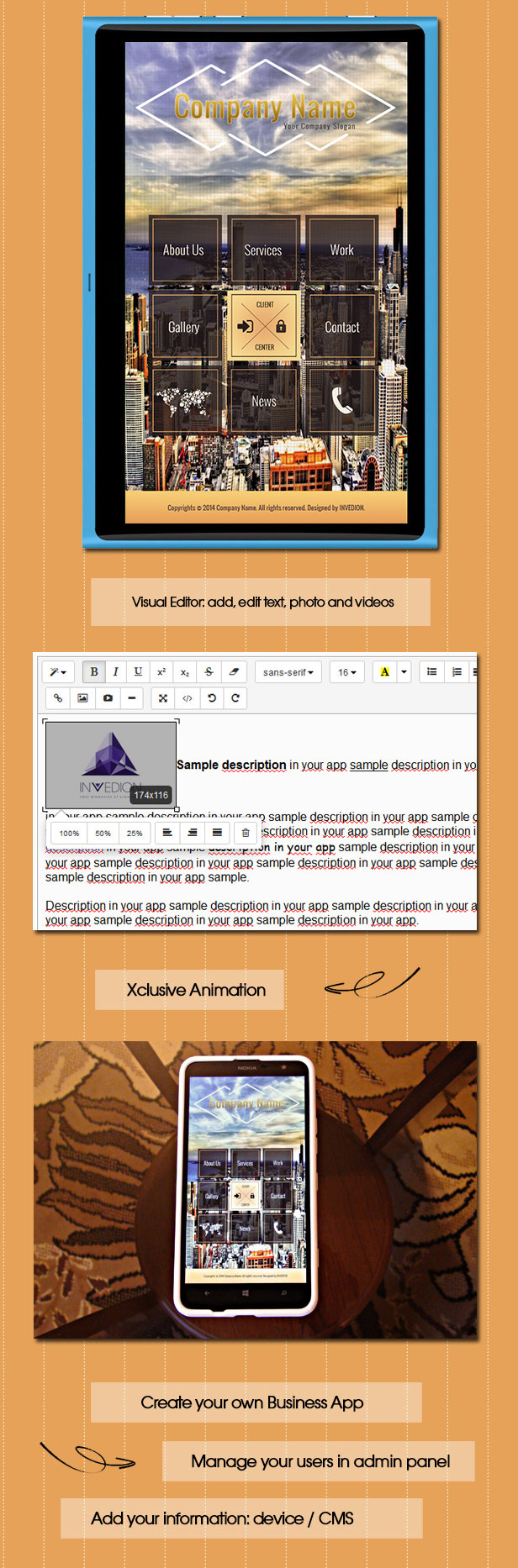 Business App With CMS - Windows Phone - 2