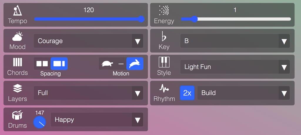 Sound Sculpt Controls