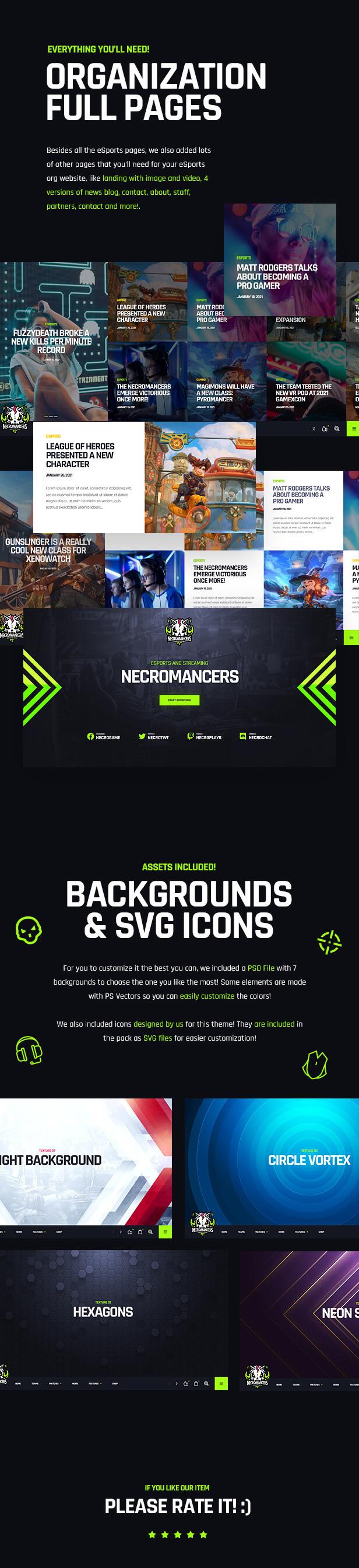 Necromancers - eSports & Gaming Team Free WordPress Theme