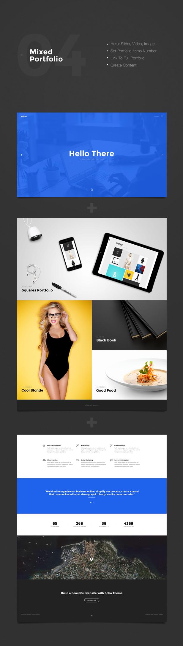 Soho - The Ultimate Portfolio WordPress Theme by ClaPat   ThemeForest
