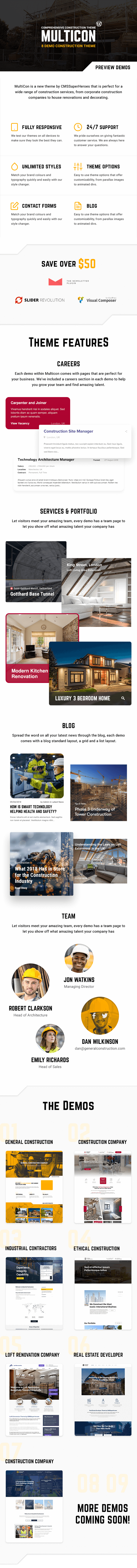 Multicon - Multi-Purpose Construction Industry Theme