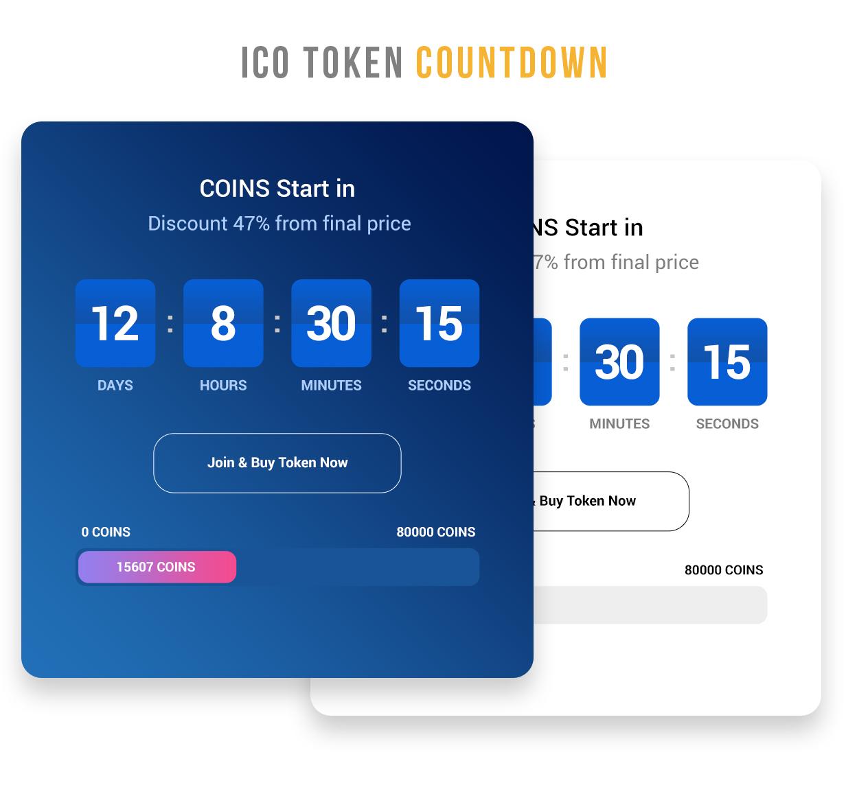 MaxiCoins - ICO Landing PSD Template