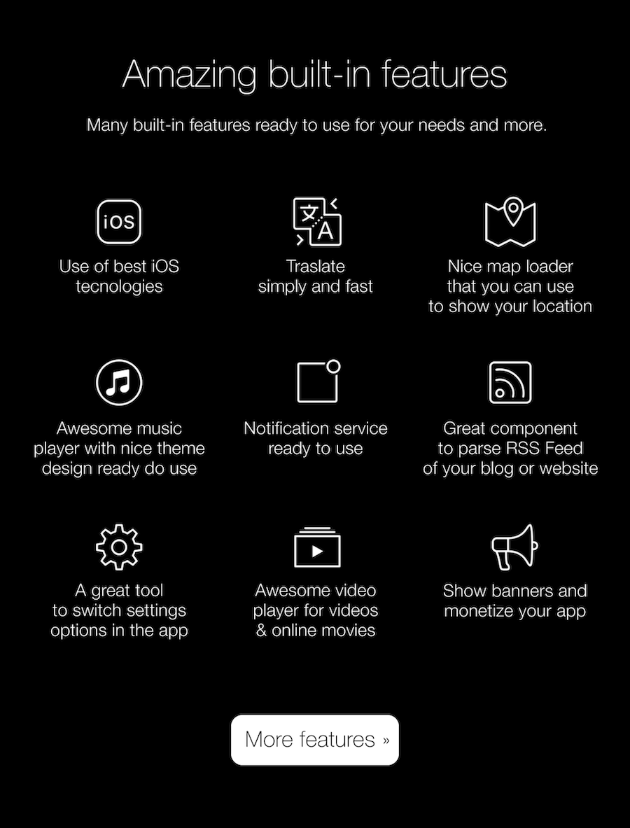 Multipurpose Universal iOS Application Template by