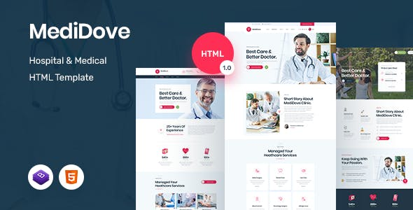 MediDove – Medical and Health HTML5 Template