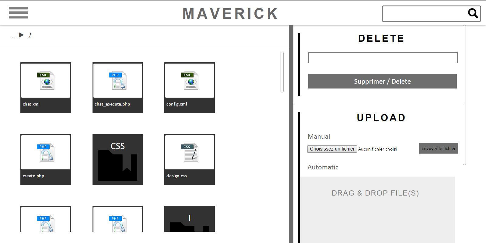 Maverick - Cloud storage website - 1