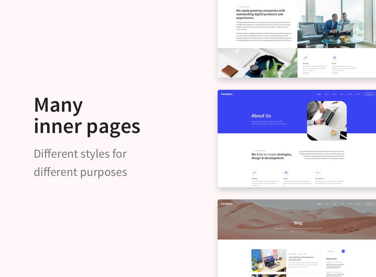 Fedelick - Corporate, Agency Multi-Purpose HTML Template - 3
