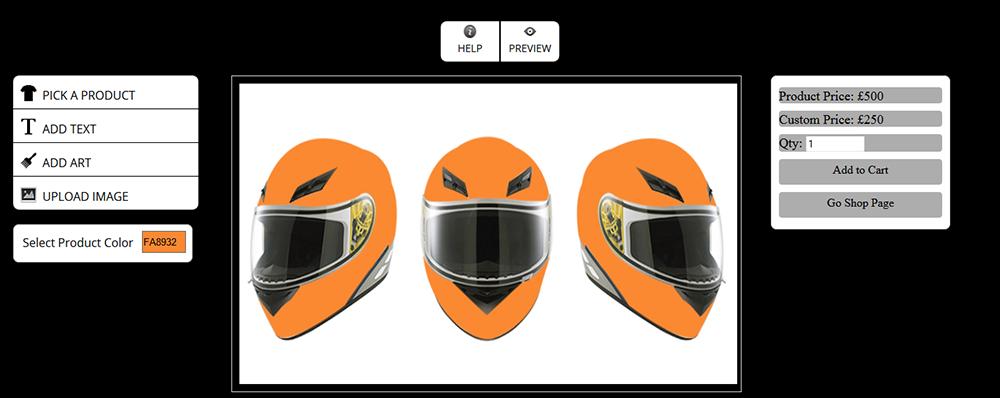 WooCommerce Custom Super Bowl Helmet Designer - 14