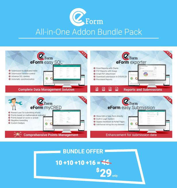 Add-on Bundle for eForm WordPress Form Builder