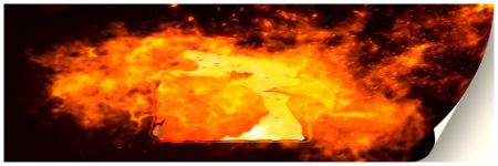 Trailing Fire Logo Reveal