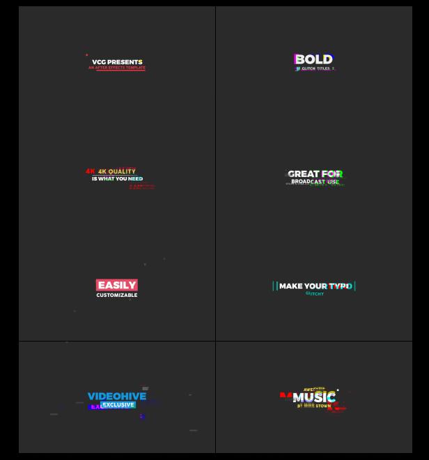 Bold Glitch Titles 2 - 10