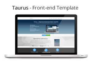 Taurus - Responsive Bootstrap Admin Template - 3