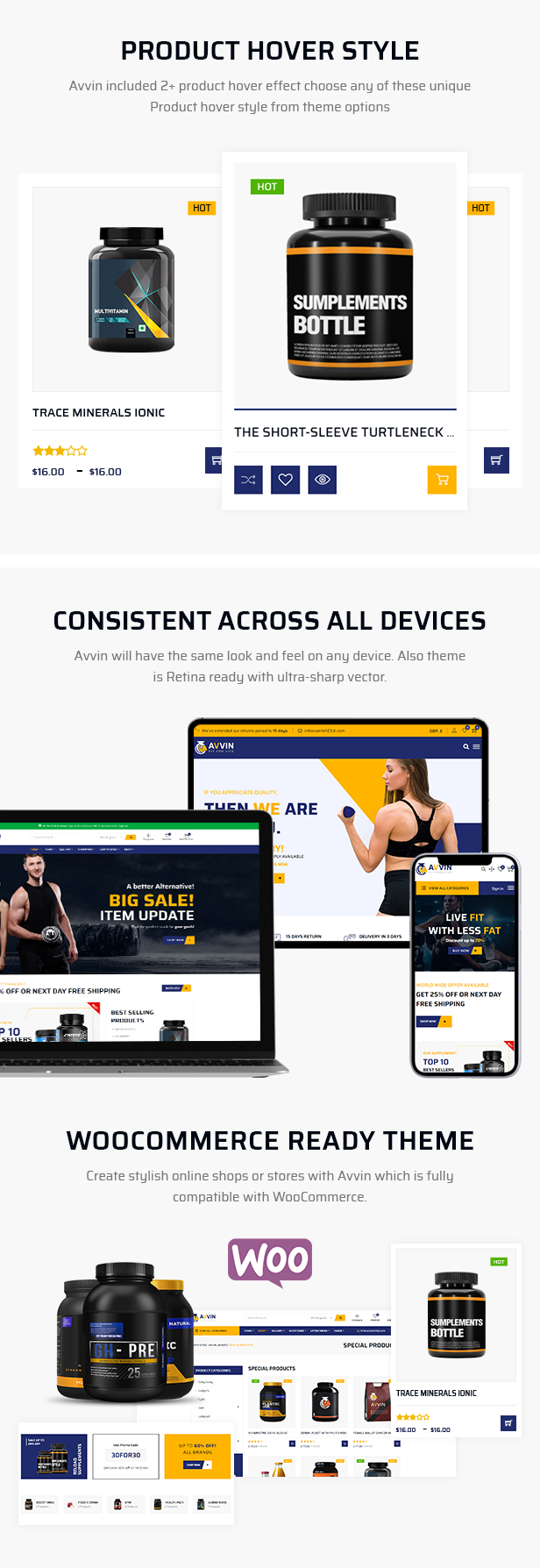 Supplement Store WooCommerce Theme