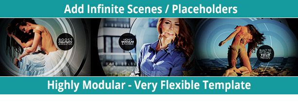 modular and felxible after effects slideshow templates
