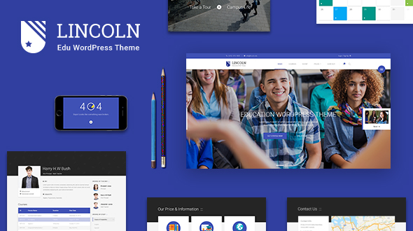 Lincoln - Material Design Education WordPress Theme